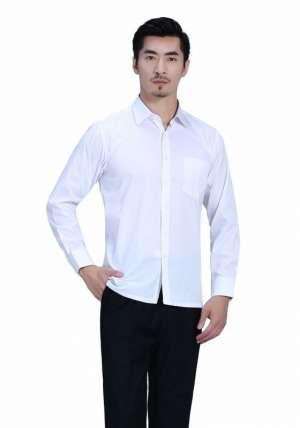 白色正常款衬衫长袖衬衫